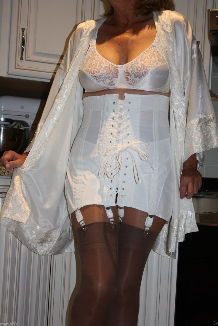 White High Waist Lace Up Front Open Bottom Girdle White ...