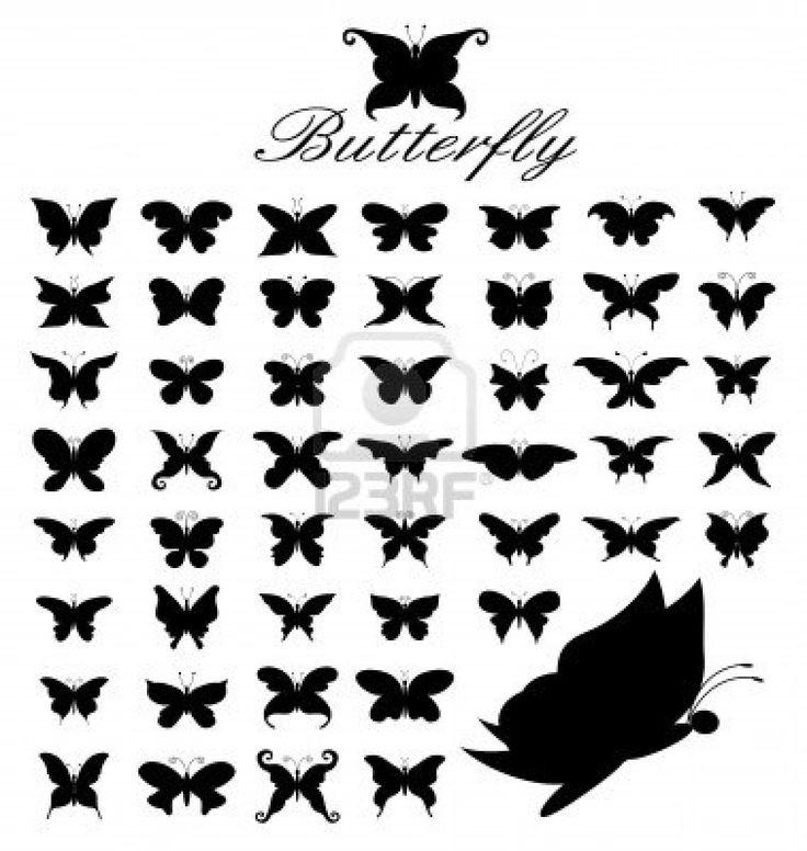 Butterfly Silhouette Tattoo Ella