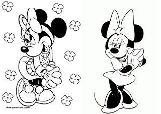 Montando minha festa: Livro de colorir Minnie