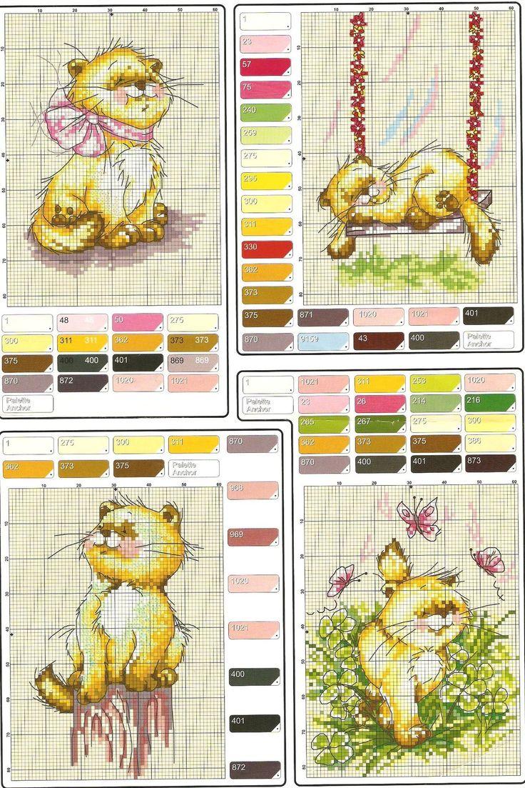 Коты и кошки. ЧАСТЬ 5 / Вышивка / Схемы вышивки крестом, вышивка крестиком
