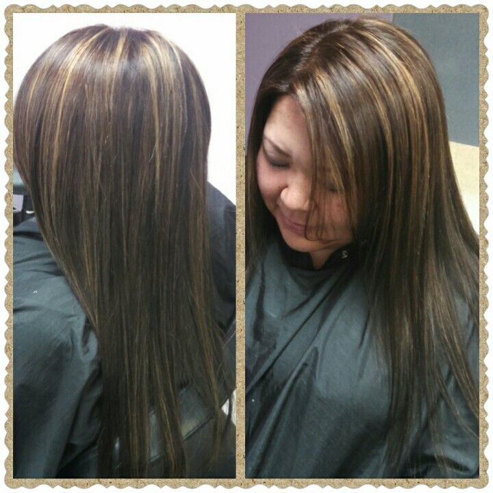 160 best hair by sarah images on pinterest hair blondes and wig dark hair with warm highlights pmusecretfo Gallery