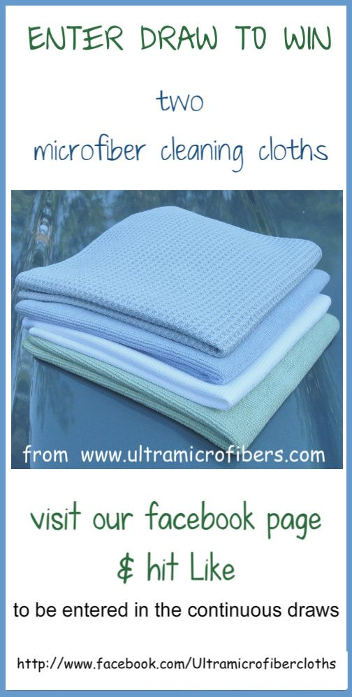 Time to give away some more microfiber cloths. Like our Facebook page to win 2 Nordic Microfiber cloths. We make a draw every 20 likes. Your names will stay in the hat for each draw. Go to this link to LIKE our page to eligible to win next time (expires Dec 31, 2014)http://www.facebook.com/Ultramicrofibercloths