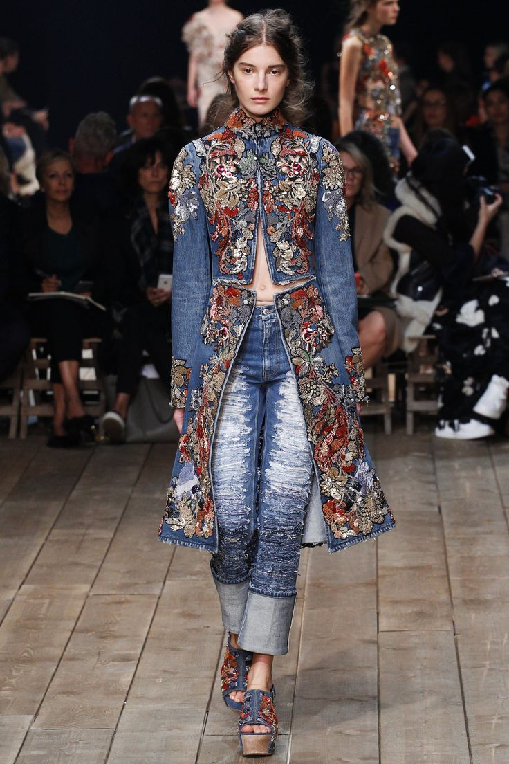 Yep, leave it to McQueen to take denim to whole other level. This jacket is INSANE! - AH  Alexander McQueen