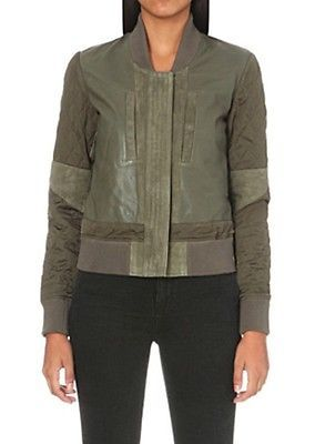 bnwt Allsaints Darnley leather bomber jacket.