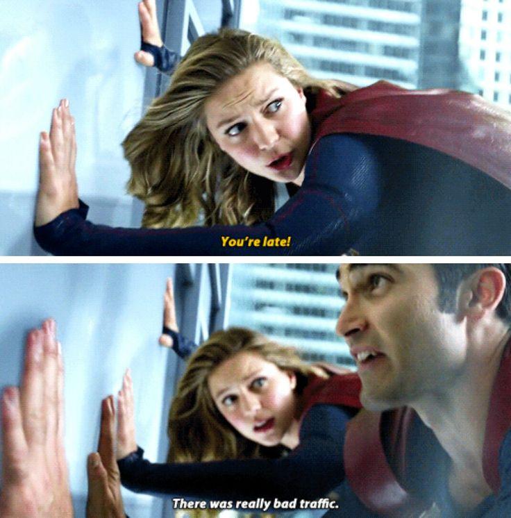 Clark Kent & Kara #Supergirl #Season2 #2x01