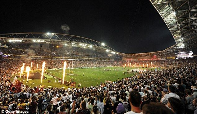 The action gets underway at ANZ Stadium for the NRL Grand Final on Sunday night