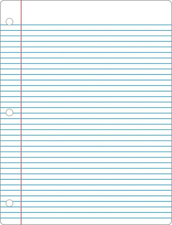 Printable Notebook Paper Pdf 001 Notebook Paper Template