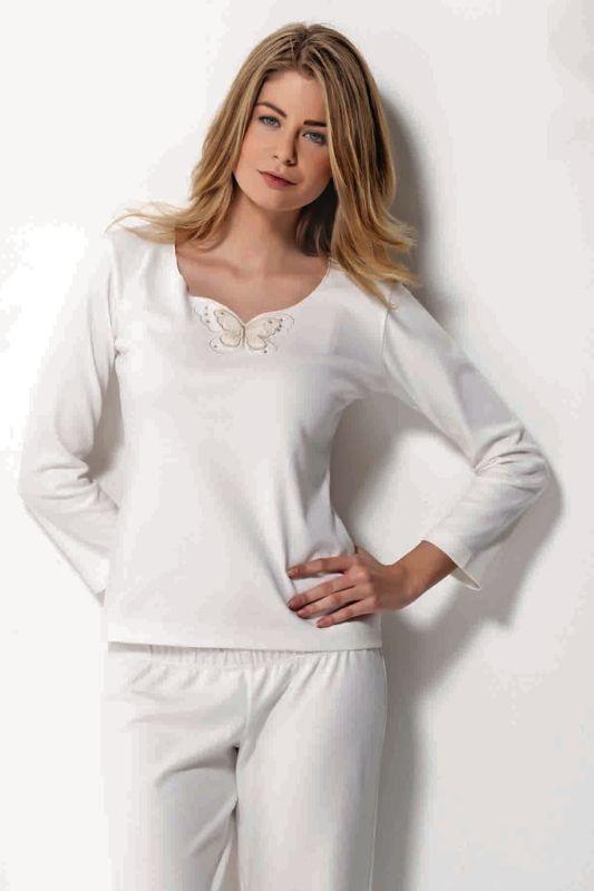 Dámske pyžamo SAHRA s dlhým rukávom. Decentný, pohodlné, hrejivé. Všetko čo potrebujete k pokojnému spánku.