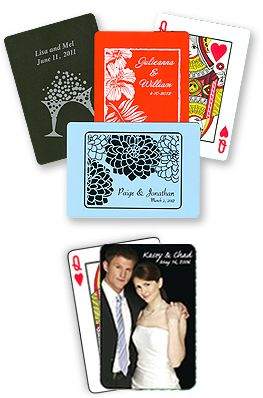 Custom Playing Cards Personalized Wedding Favors And Unique Gifts For