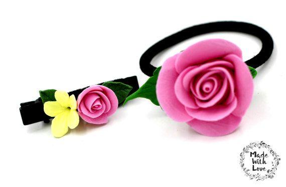 dark flower hair clip,hair accessories for short hair,bridesmaid gift hair tie,bachelorette party hair ties,hair accessories for toddlers