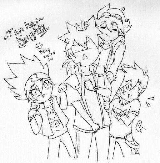 Tenkai Knights Coloring Page