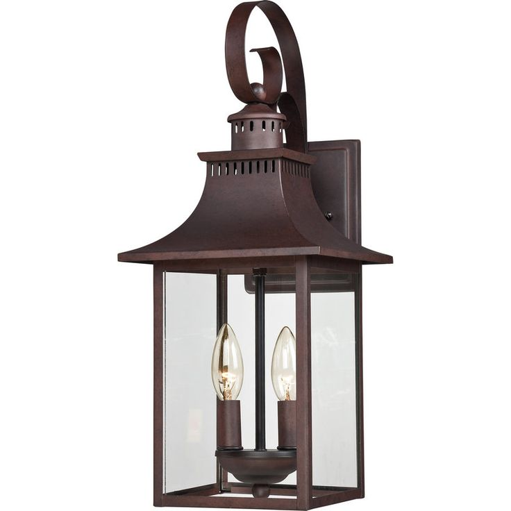 Buy the Quoizel Copper Bronze Direct. Shop for the Quoizel Copper Bronze Chancellor 2 Light Tall Outdoor Wall Sconce with Clear Glass and save.  sc 1 st  Pinterest & 86 best Exterior Lighting images on Pinterest   Lights Books and ... azcodes.com