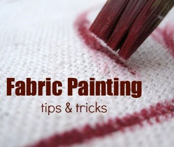 JC; Fabric Painting Techniques: Tips and Tricks on The Sewing Loft at http://thesewingloftblog.com/2014/05/05/fabric-painting-techniques/