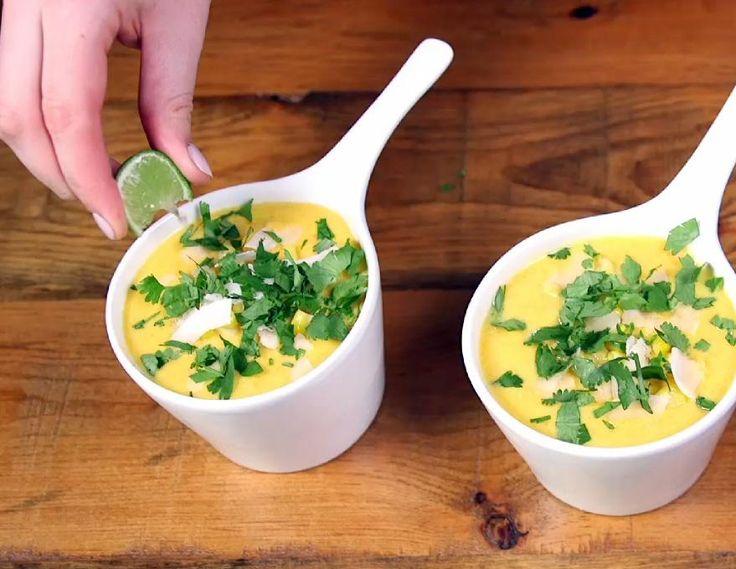 Soupe noix de coco et maïs express
