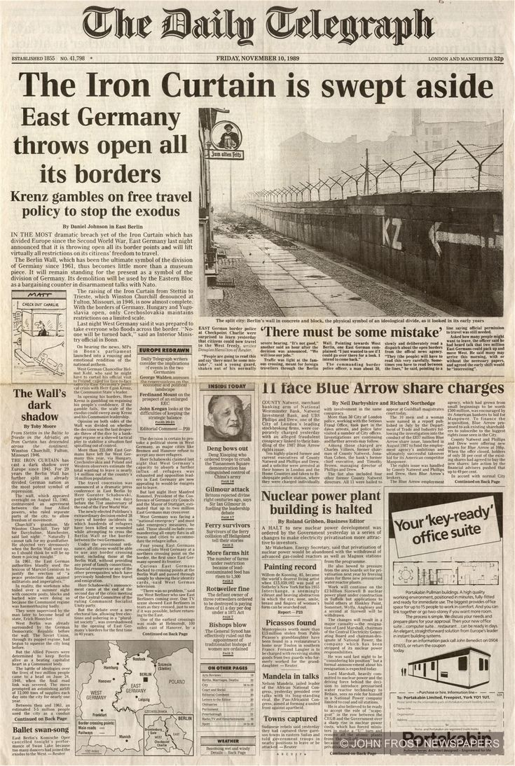 #Onthisday in 1989, the Berlin Wall was taken down.