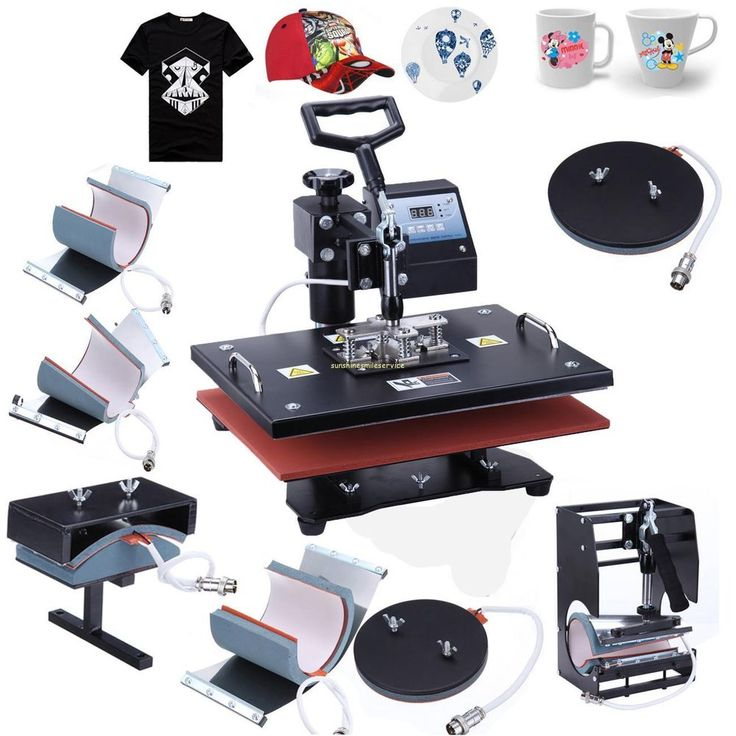 Digital 8 in 1 Transfer Heat Press Machine Sublimation for T-Shirt Mug Cap dish
