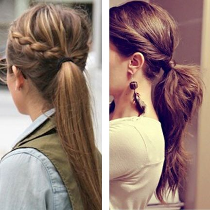 Need some easy hairstyle inspiration for those days when you're in a rush? Look no further!...in a rush my ass. That would take an hour then I'd say heck and throw it up in a two second messy bun.