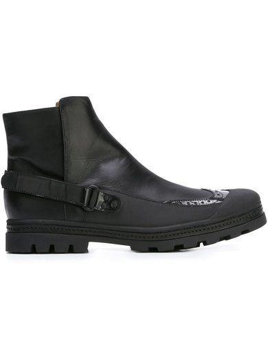 Mm6 Maison Margiela Brogue Detail Ankle Boots
