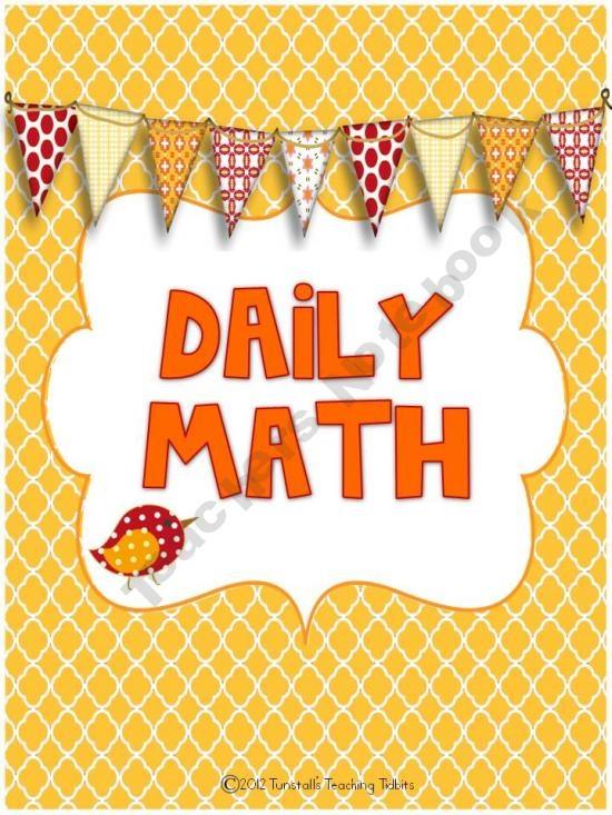 Daily MathStart The Schools Years, Math Problems, Free Homeschool, Teaching Tidbits, Schools Stuff, Math Ideas, Mornings Work, Tunstall Teaching, Daily Math