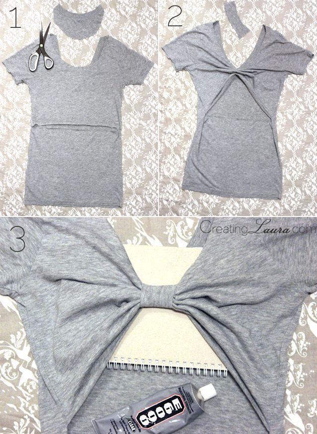 Creating Laura: No-Sew DIY Bow-Back Tank Top ^