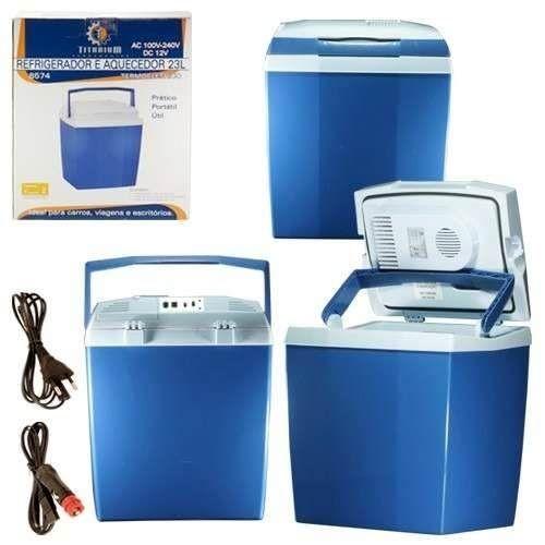 mini geladeira portatil 23 litros espaçosa bivolt automotiva
