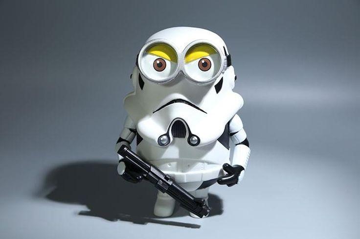 Dumma Mig Stormtrooper Docka 20cm (Dispicable Me, Minions + Star Wars)
