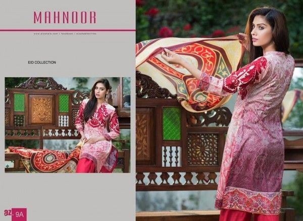 Al-Zohaib Textile Mahnoor #Eid Collection 2015 will bring a fun element to your #wardrobe with the stylish ruffled collar while the modern cut adds confidence to your image. It's a hit #ladies! Mix and match it with beige tights and #sandals.