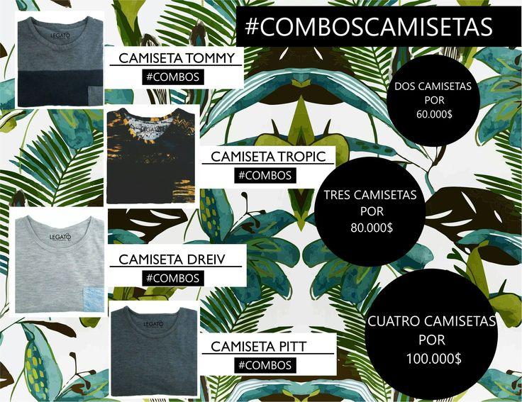 Iniciamos temporada de combos!!  prendas con precios increíbles!!!  Envíos gratuitos en Bogotá y pago contra entrega!! #combos #menswear #camisetas #tshirt #hechoencolombia