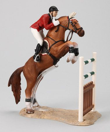 Another great find on #zulily! Show Jumping Horse Figurine by Schleich #zulilyfinds