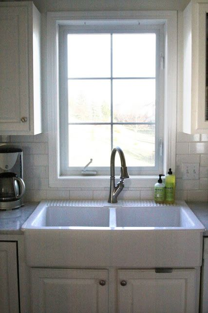 Ikea apron sink, love the dual apron with a faucet that has the hose pull out