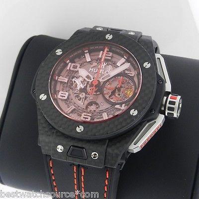 Hublot Big Bang Ferrari 401.QX.0123.VR Carbon Fiber Red Sapphire Ret: $32,100