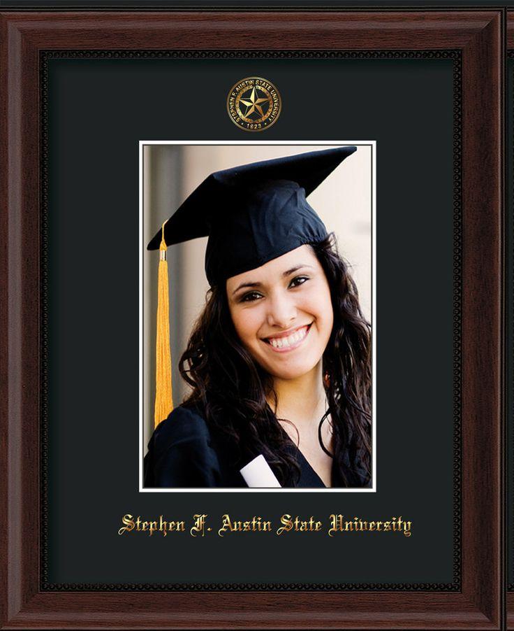 Stephen F Austin State 5 x 7 Mahogany Bead photo frame w/black mat. – Professional Framing Company