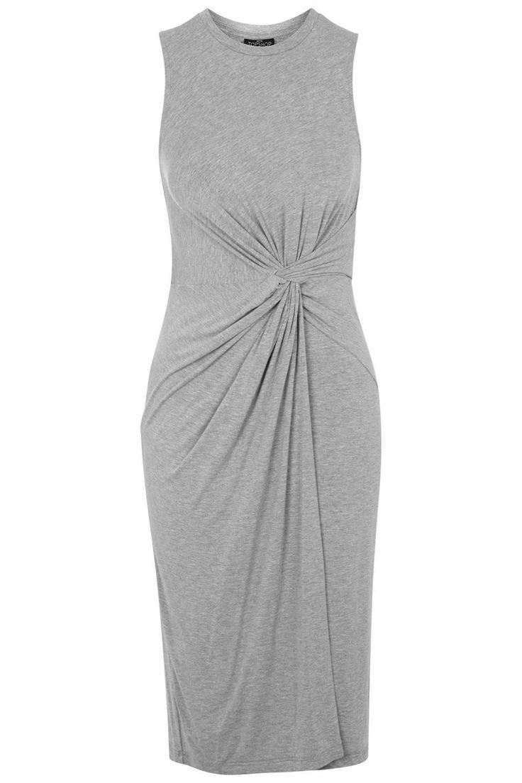 Photo 1 of PETITE Knot Front Midi Dress
