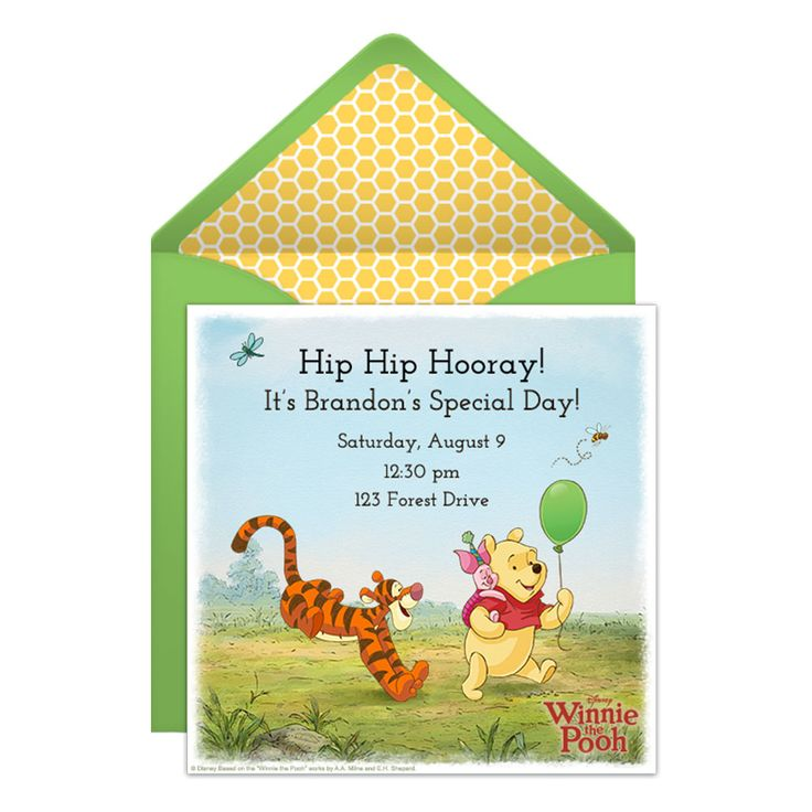 Best Birthday Invitations Images On Pinterest Birthday - Birthday invitation templates winnie pooh