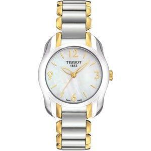 Tissot Watch, Women's Swiss T-Wave Two Tone Stainless Steel Bracelet 28x26mm T0232102211700