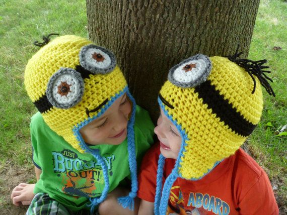 Knitting Pattern Minion Hat Free : #Minion Hat #Crochet #DespicableMe Character Inspired by ...