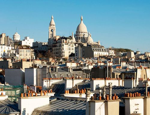 ღღ The splendid view from the Hotel Le Relais Montmartre