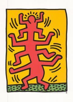 Keith Haring Growing, 1988