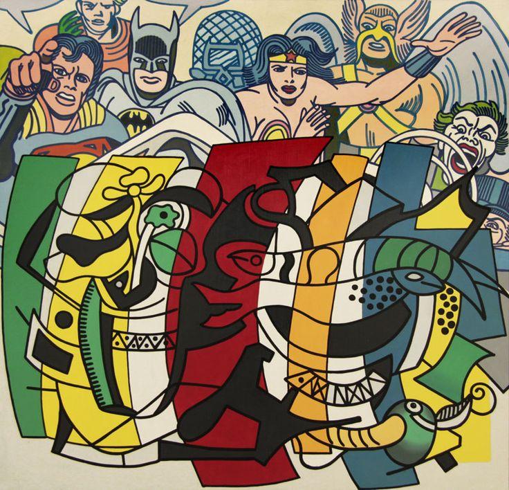 Erro - acrylique sur toile - 100 X 100 cm - 1987