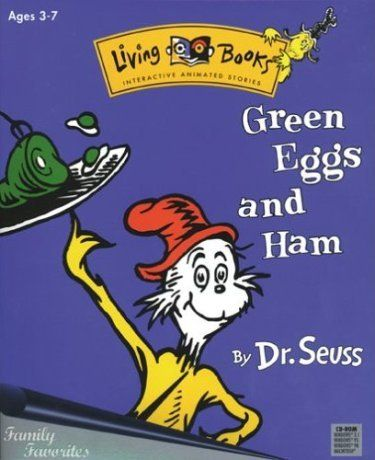 Green Eggs And Ham >> Living Books Interactive Animated Stories Green Eggs And Ham By Dr, Seuss PC Game   Childhood ...