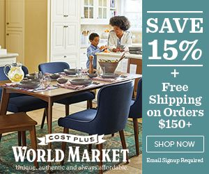 Cost Plus World Market Promo Code 15% Off + Free Shipping