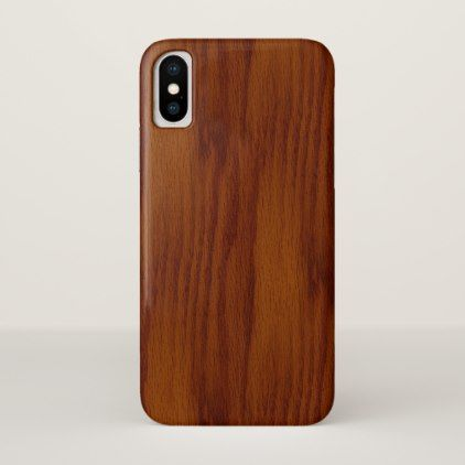 The Look of Warm Oak Wood Grain Texture iPhone X Case - rustic style country natural diy customize personalize