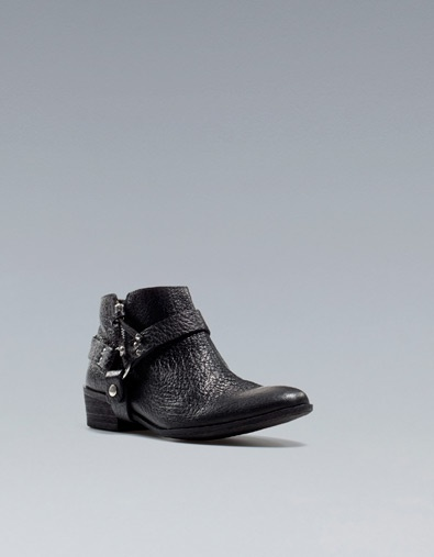 Loving boots for winter    FLAT ANKLE BOOT WITH TRIM - Shoes - Woman - ZARA United States