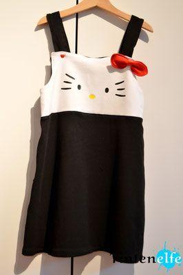 Blog Tintenelfe.de - Hello Kitty Kleid #kleid #hellokitty #nähen #sewing #geschenke