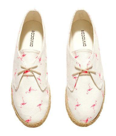 Flamingo prints Espadrilles shoes