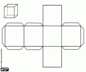 malvorlagen Hexaeder, sechsseitige Polyeder ausmalbilder
