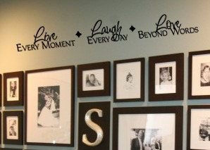 LIVE every moment  LAUGH every day LOVE beyond words Family Home Vinyl Wall sayings lettering Decal. $19.99, via Etsy.