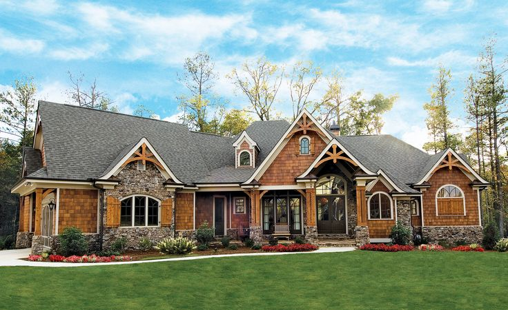 Plan 15651ge award winning gable roof masterpiece for Craftsman roofing