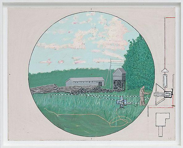 Leonard Rickhard <em>Sommernatt</em><br />Olje på papp og tre, 66x81 cm