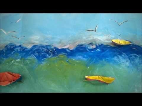 schrijfdans de golven van de zee